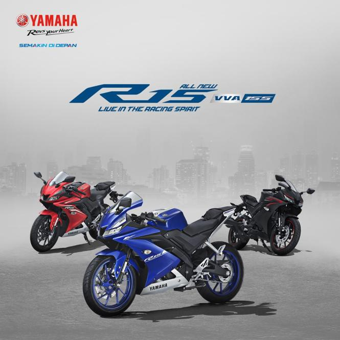 Kredit Motor Yamaha all new r15 155Vva
