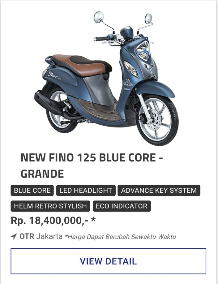 Kredit Motor Yamaha Fino 125 Grande