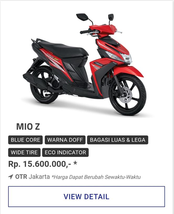 Kredit Motor Yamaha Mio Z 125