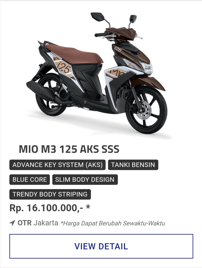 Kredit Motor Yamaha Mio M3 125 Aks Sss