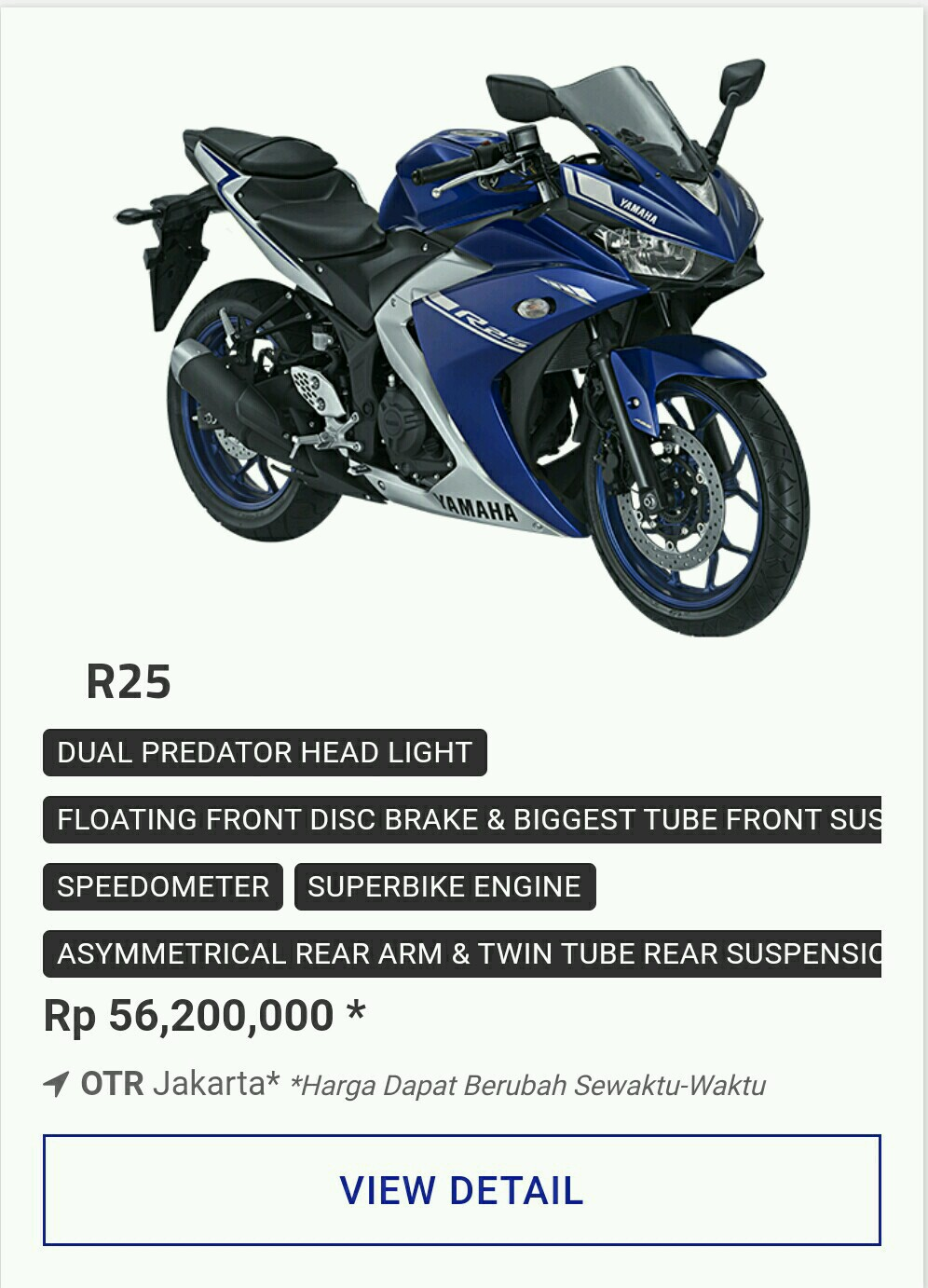 Kredit Motor Yamaha Promo Sport R25 Movistar July2017