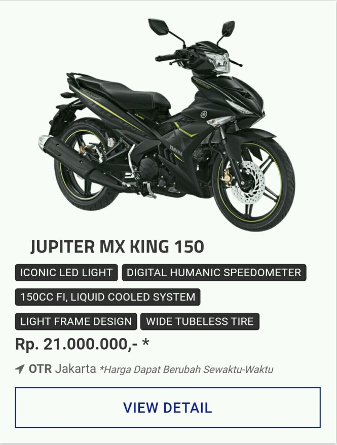 Kredit Motor Yamaha Mx King