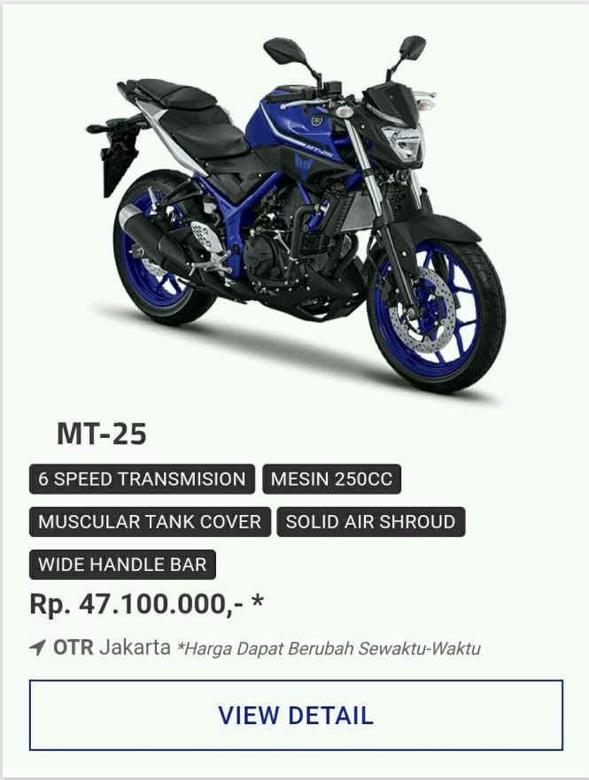 Kredit Motor Yamaha MT-25