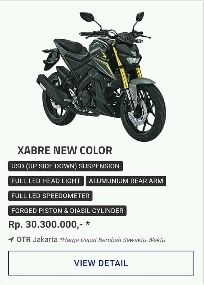 Kredit Motor Yamaha Xabre 150